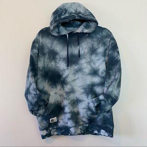 CRTV Lira Tie Dye Blue Medium Hoodie Sweater